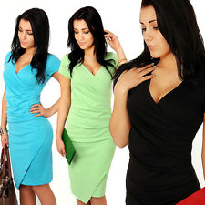 Women's V neck Pencil Elegant Casual Formal Classic Work Evening Dress A19