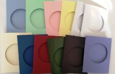 Aperture cards circle 114X88mm 3 fold with env YOU PICK