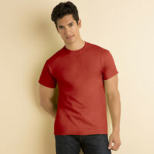 MENS CASUAL HEAVY COTTON FITTED CREW NECK T-SHIRTS SIZE S-3XL / 45 COLOURS