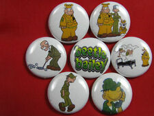 BEETLE BAILEY Comic Cartoon  NEW Set of 7 Select-a-Size of Pinback Buttons