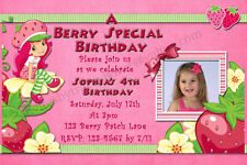 New Strawberry Shortcake Birthday Invitations & Thank You Cards