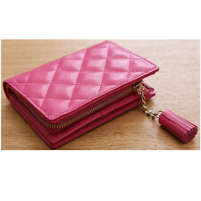 Women Medium Wallet Clutch Card Bill Wallet Zipper Wallet COW Leather 517B
