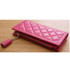 Women Long Wallet Card Bill Wallet Woman Zipper Wallet COW Leather 517A