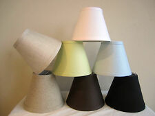 "Linen Mini Chandelier Lamp Shade, Clip On, Hardback, 3""x 6""x 5"""