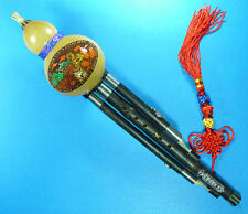 Chinese Yunnan Ethnic Gourd Flute,Purple Bamboo 3 Octaves Hulusi,For Performance