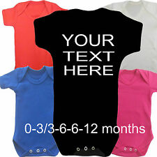 Custom Printed Personalised BabyGrow Vest Suit Boy Girl Newborn Gift Clothes