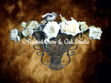 Old World Style Roses in Sconce Art Print Signed Original Matted Picture A380