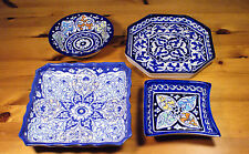 Handmade, Hand Painted Serving & Decorative Dishes Islamic Persian Style Pottery
