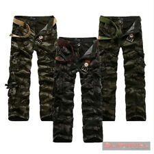 NEW MENS SZ 30 32 34 36 CAMOUFLAGE STRAIGHT LEG ARMY MILITARY CARGO JEANS PANTS