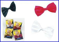 Fancy Dress Bow Tie Various Colours Clown Circus Sequin Dickie Bow Brand New