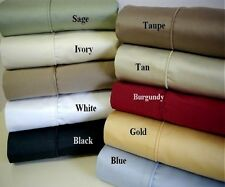 Brand New 800 Thread Count Egyptian Cotton Solid Deep Pocket 1PC Fitted Sheet