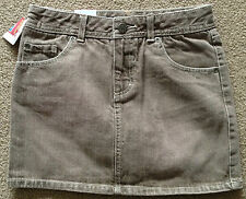 New MOSSIMO Brown Denim GIRLS Jeans Skirt NEW WITH TAGS Adjustable Waist