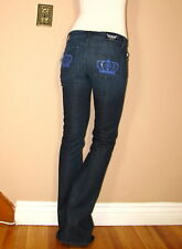 Rock&Republic Original Kasandra Boot Jeans Crystal Crown Victoria Beckham 27 New