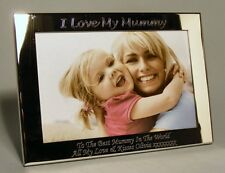 Personalised Engraved 7x5 Silver Plated Photo Frame Mum, Mummy, Mothers Day Gift