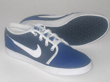 Mens New NIKE Coast Classic Canvas Blue Leather Trainers