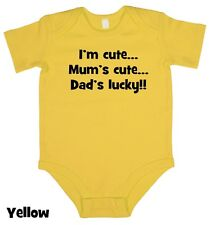 Im Cute, Mums Cute.. - Baby Grow Boy Girl Babies Clothes Gift Funny Cool Present