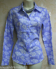 Fab Boden Cotton Floral Print Shirt Blouse Top 8 10 12 14 16 18 Blue/Lilac/Green