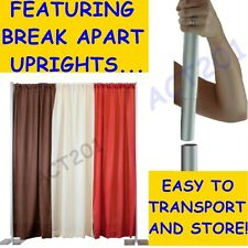 10 FT HIGH x 10 FT WIDE PIPE AND DRAPE KIT (WITH ECONOMY DRAPES) - PIPE & DRAPE
