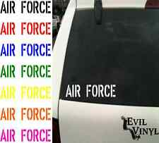 AIR FORCE Vinyl Car Window Decal US Soldier Military Retired VA Veteran ANY SIZE