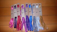 "Official 100% Authentic Nike Skate Metallic Flat Shoe Laces 54"" 45"" 36"" inch"