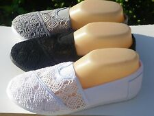 New Women's Classic Slip-On Flats, Casual Shoes.Black, Grey, White. Many Sizes.