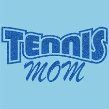 Ladies' TENNIS MOM Pride T-Shirt Cute Glitter Mother's Day Tee 6 Colors XS-3XL