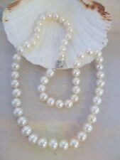 WHITE 8-9mm Freshwater Pearl 925 Sterling Silver NECKLACE * U PICK LENGTH