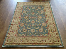 RUG RUNNER TRADITIONAL PERSIAN BLUE TEAL GOLD BEIGE SMALL MEDIUM EXTRA LARGE