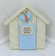Chic Shabby in legno in piedi Casa Placca ♥ HOME SWEET HOME ♥ ♥ paese Hall