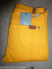 NWT Seven 7 For All Mankind Skinny/Slim Illusion Golden (Yellow) Mid-Rise Jeans