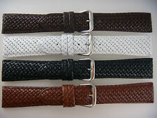 Hadley Roma Leather Watch Band Strap For Tommy Bahama Black Tan White Brown 20mm