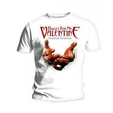 "Bullet For My Valentine ""Temper Temper Blood Hands"" Official White Men's T-Shirt"