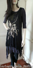 Filo Grey/black dress/top with gold floral design, just gorgeous!! size 10,14,16