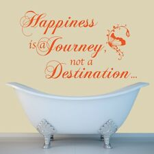 Happiness Is A Journey - Wall Decal Quote Sticker lounge kitchen dining room