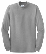 Port & Company Men's New Coverseamed Long Sleeve Mock Turtleneck T-Shirt. PC61M
