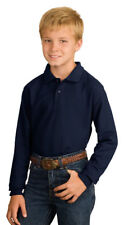 Port Authority Youth Metal Buttons Long Sleeve Silk Touch Polo Shirt. Y500LS