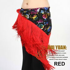2013 latest belly dance costumes hip scarf wrap belt skirt flowers tassels