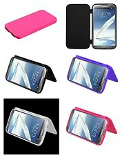 Folio Flip Wallet Style TPU Rubber Silicone Case Cover SAMSUNG GALAXY Note 2 II