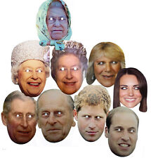 Royal Family Queen Elizabeth Mask Hen Stagg Christmas Birthday Fun Fancy Parties