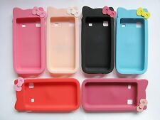 HELLO KITTY RUBBER SILICONE CASE COVER FOR SAMSUNG GALAXY S I9000 T959