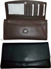 New womens Leather checkbook wallet compact wallet zip wallet money case bnwt