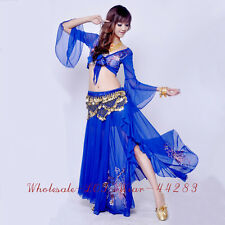 NEW dance belly dance Costume set Skirt+top low price ON SALE S M L XL(no belt)
