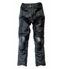 Mens Perforated Leather Racing Motorcycle Pant With Armors New All Sizes
