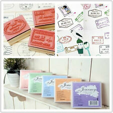 New 5 Model Korean Travel voyage retro Wooden Rubber Stamp