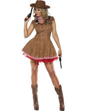 Ladies Sexy Fever Wild West Cowgirl Hen Party Outfit Fancy Dress Costume