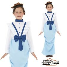 Child Girls Posh Victorian Fancy Dress Costume Kids Outfit