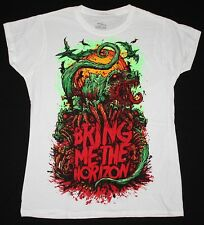 BRING ME THE HORIZON SNAKE SUICIDE SILENCE EMMURE S-XXL NEW WHITE LADY T-SHIRT