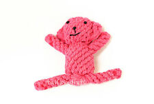 TOUGH SAFE HANDMADE KNIT ROPE CHEW ANIMAL TOYS FOR DOGS - BEAR!