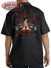 Full Metal Service Motor Dickies Mechanics Work Shirt Chop Shop Garage Rat Rod