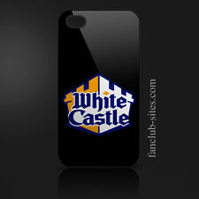 White castle hamburgers logo food burger king iphone 4 4g 4s hard case cover